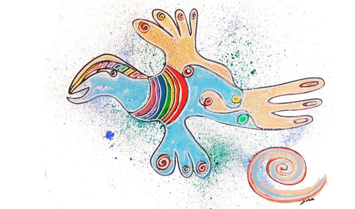 aura tekening schilder resonantie